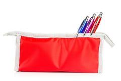 Caja de lápiz roja Fotos de archivo libres de regalías
