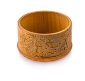 caja de la Abedul-corteza en el fondo blanco Imágenes de archivo libres de regalías