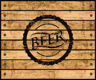Caja de la cerveza Imagen de archivo