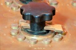 Caja de la década de los resistores del vintage Fotos de archivo