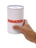 Caja de la donación Fotos de archivo libres de regalías