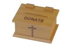 Caja de la donación de la iglesia stock de ilustración