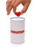 Caja de la donación Fotos de archivo