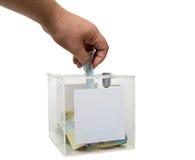 Caja de la donación Imagen de archivo