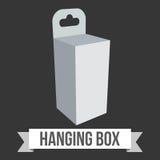 Caja de la ejecución del papel en blanco Imagenes de archivo