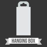 Caja de la ejecución del papel en blanco Fotos de archivo libres de regalías