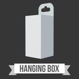Caja de la ejecución del papel en blanco Imagen de archivo libre de regalías