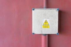Caja de la electricidad Fotos de archivo libres de regalías