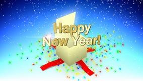Caja de la Feliz Año Nuevo stock de ilustración