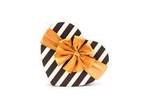 Caja de la forma del corazón para el día de San Valentín Foto de archivo libre de regalías