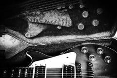 Caja de la guitarra Foto de archivo