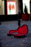 Caja de la guitarra Fotografía de archivo