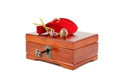 Caja de la joyería Foto de archivo