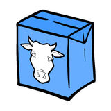 Caja de la leche del vector Fotos de archivo