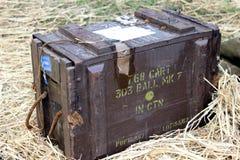Caja de la munición Foto de archivo libre de regalías