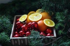 Caja de la Navidad Foto de archivo