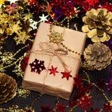 Caja de la Navidad Imágenes de archivo libres de regalías