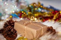 Caja de la Navidad Fotos de archivo