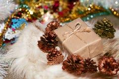 Caja de la Navidad Foto de archivo libre de regalías