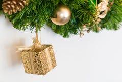 Caja de la Navidad Fotos de archivo libres de regalías