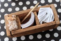 Caja de la orden con otra Fotografía de archivo libre de regalías
