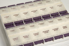 Caja de la píldora Foto de archivo libre de regalías