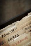 Caja de la receta del vintage Foto de archivo libre de regalías