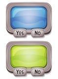 Caja de la respuesta para el juego de Ui stock de ilustración