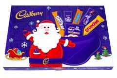 Caja de la selección de la Navidad de Cadbury Imagenes de archivo