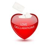 Caja de la tarjeta del día de San Valentín con los sobres ilustración del vector