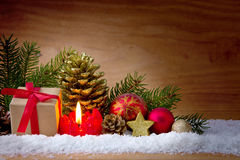 Caja de la vela y de regalo del advenimiento Fotos de archivo