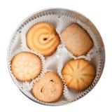 Caja de las galletas de mantequilla fotografía de archivo libre de regalías