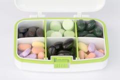 Caja de las píldoras Imagen de archivo