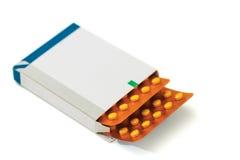 Caja de las píldoras Fotografía de archivo libre de regalías