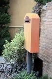 Caja de letra en al aire libre Foto de archivo