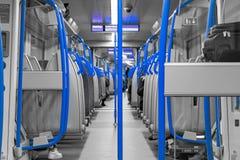 Caja de los azules ferroviarios foto de archivo libre de regalías