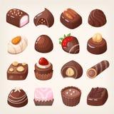 Caja de los dulces del chocolate stock de ilustración