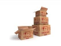 Caja de los posts del paquete del paquete Fotografía de archivo libre de regalías