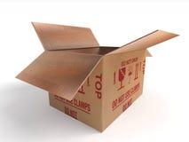 Caja de los posts del paquete del paquete Imagen de archivo libre de regalías