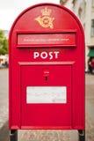 Caja de los posts en Dinamarca Imagen de archivo libre de regalías