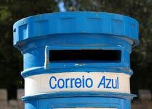 Caja de los posts en Lisboa, Portugal Foto de archivo