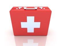 Caja de los primeros auxilios Imagenes de archivo