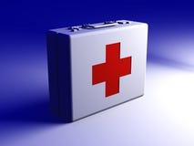Caja de los primeros auxilios Fotografía de archivo libre de regalías
