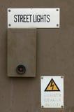 Caja de luces de calle Imagen de archivo libre de regalías