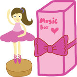Caja de música stock de ilustración