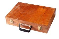 Caja de madera del vintage aislada fotos de archivo