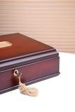 Caja de madera hermosa Foto de archivo