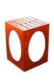 Caja de madera para la exhibición de la imagen Foto de archivo libre de regalías