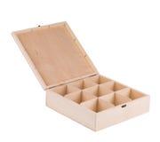 Caja de madera para las bolas de billar Imagen de archivo
