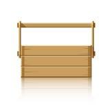 Caja de madera para las herramientas Foto de archivo libre de regalías